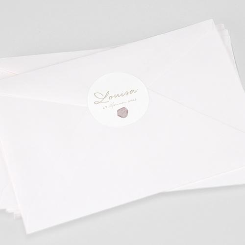 Aufkleber Geburt Wäscheleine Rosa, 4.5 cm