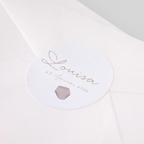 Aufkleber Geburt Wäscheleine Rosa, 4.5 cm pas cher