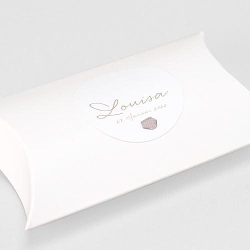Aufkleber Geburt Wäscheleine Rosa, 4.5 cm gratuit