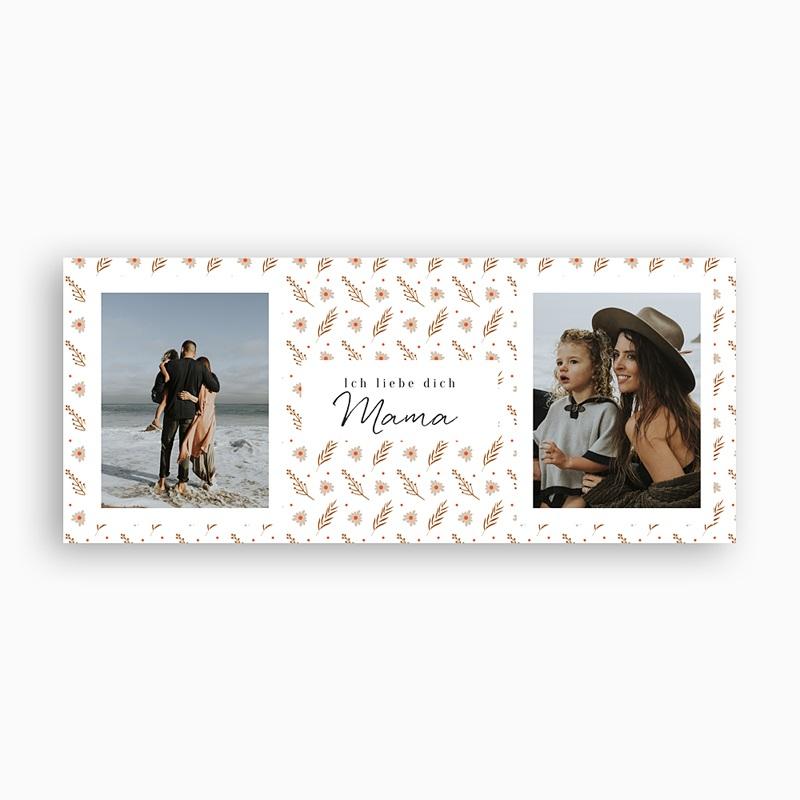 Personalisierte Fototassen Liebe Mama, 2 Fotos pas cher