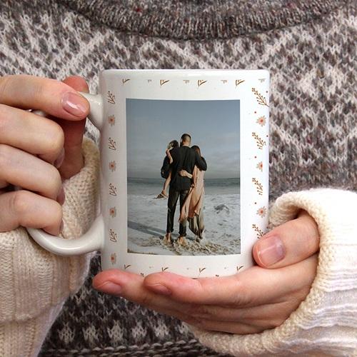 Personalisierte Fototassen Liebe Mama, 2 Fotos gratuit