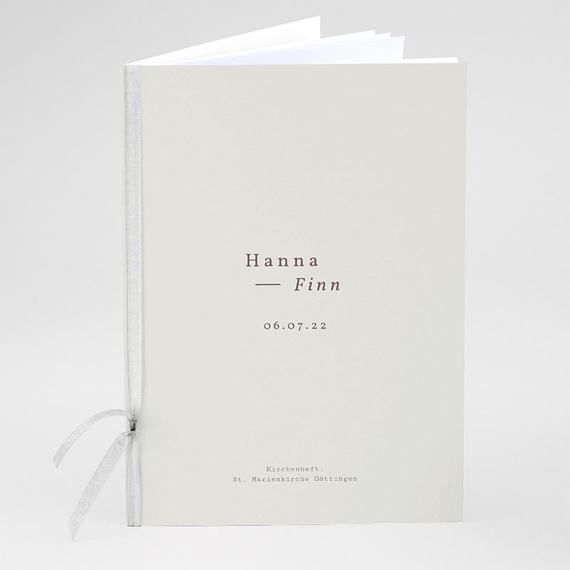 Kirchenheft Hochzeit Lilien, minimalistisch, Umschlag