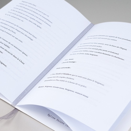 Kirchenheft Hochzeit Lilien, minimalistisch, Umschlag gratuit