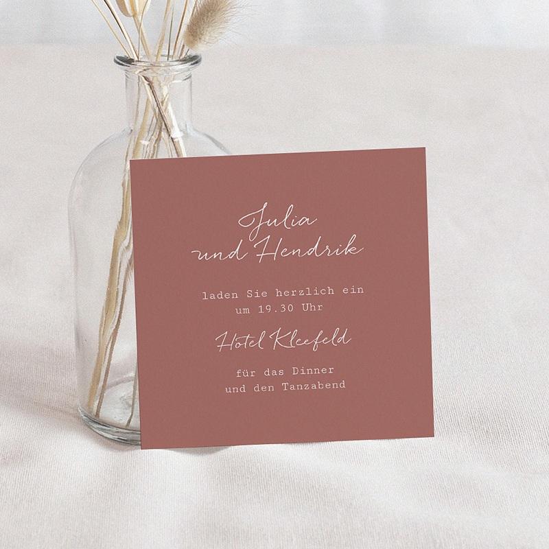 Einladungskarten Hochzeit Blumen, Boho-Stil, 10 x 10 cm