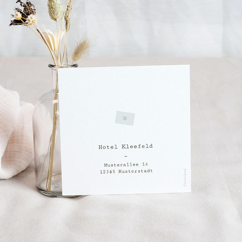 Einladungskarten Hochzeit Blumen, Boho-Stil, 10 x 10 cm pas cher