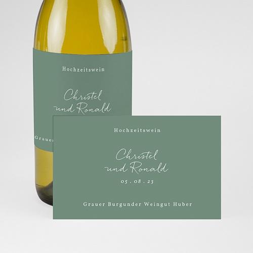 Flaschenetiketten Hochzeit Goldzweig Minimalistisch, Champagner pas cher