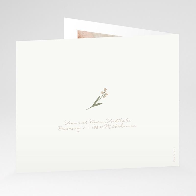 Dankeskarten Geburt Wäscheleine für Knaben, überstehende Klappkarte gratuit