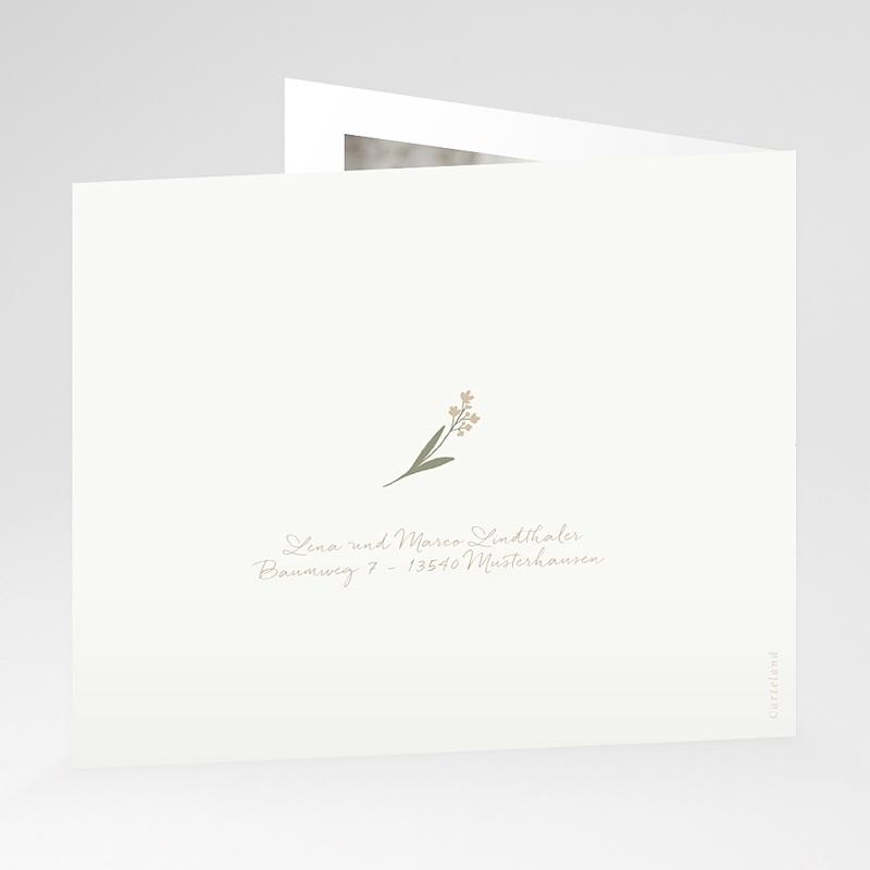 Dankeskarten Geburt Wäscheleine Rosa, überstehende Klappkarte gratuit