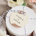 Geschenkanhänger Hochzeit Boho Olivenzweig beige, Geschenk Gast gratuit