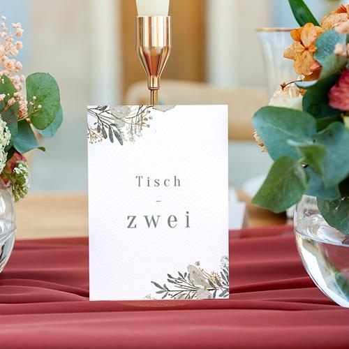Tischnummer Hochzeit Silbertaler Krone, 3-er Satz gratuit