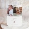 Geburtskarten Wäscheleine Rosa, 2 Fotos pas cher