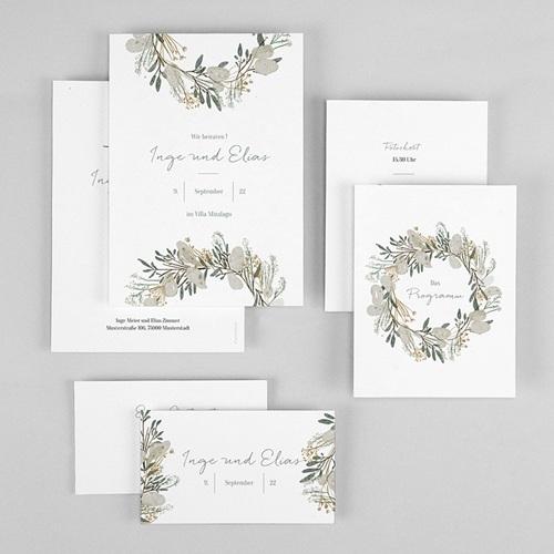 Hochzeitseinladungen Silbertaler Krone gratuit