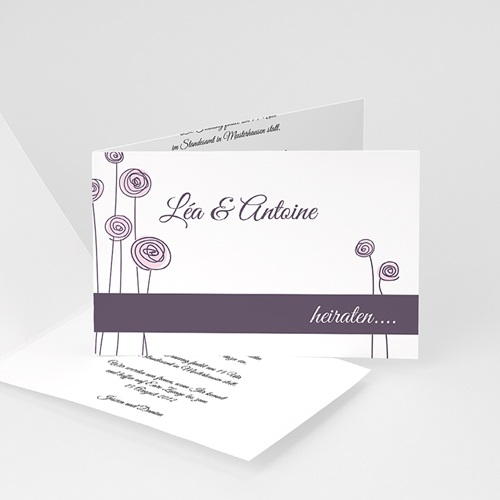 Hochzeitseinladungen modern - Floral Hochzeit 992