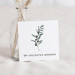 Einladungskarten - Olivenzweig, Aquarell, Brunch - 0
