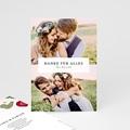 Dankeskarten Hochzeit Herbarium Romantik, Verliebt & Verheiratet