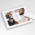 Personalisierte Foto-Mousepad Familienleben, beige,19,5 x 23 cm