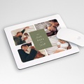 Personalisierte Foto-Mousepad Familienleben, grün, 4 Fotos