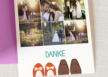 Originelle Dankeskarte Hochzeit