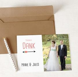 Kreative Dankeskarten Hochzeit