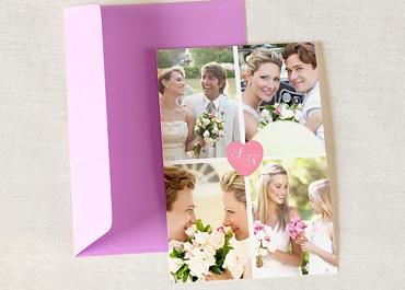 Dankeskarten Hochzeit mit Foto