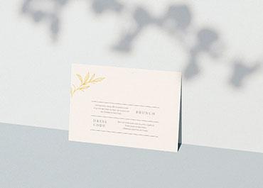 Einlegekarten Hochzeit