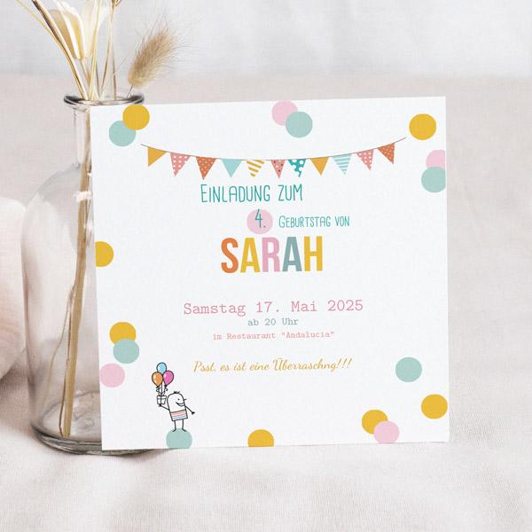 Kind Einladungskarten Geburtstag