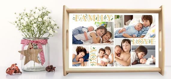Personalisierte Foto-Tablett