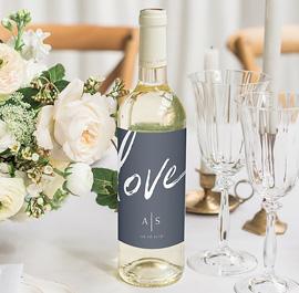Flaschenetiketten Hochzeit
