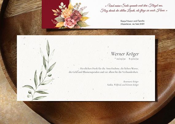 Einladung Trauerfeier