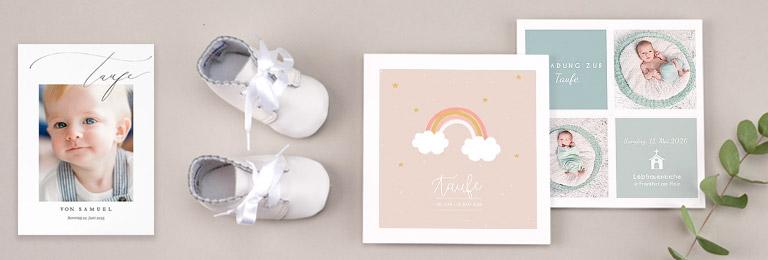 Einladungskarten Taufe Maedchen und Jungen