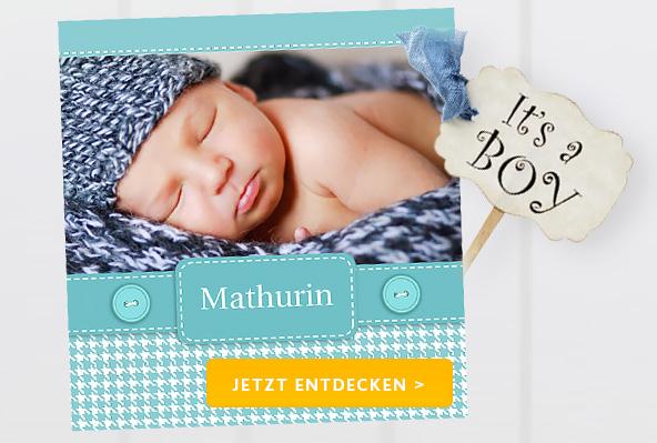 Geburtskarten Jungen