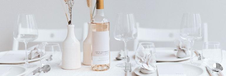 Wein Flaschenetiketten Hochzeit