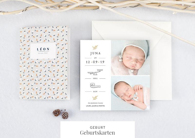 Einladungskarten f r jeden anlass online selbst gestalten - Geburtskarten selber machen ...