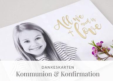 Dankeskarten Kommunion