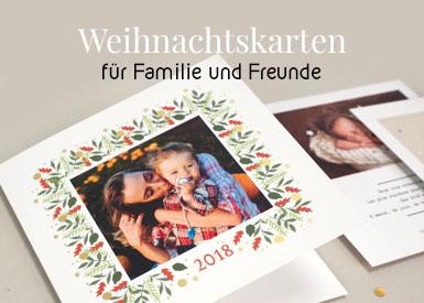 Weihnachtskarten für Familien