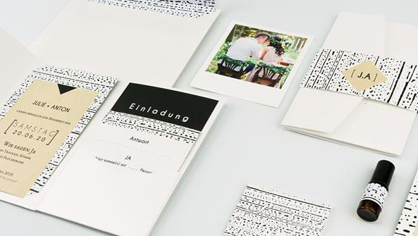 einladungskarten hochzeit elegant