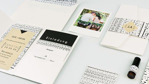 Stilvolle Hochzeitskarten Pocketfold