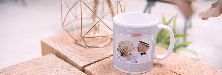 Personalisierte Fototassen Hochzeit