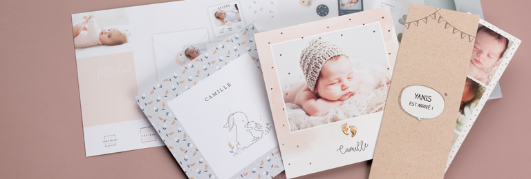 Geburtskarten mit Storch