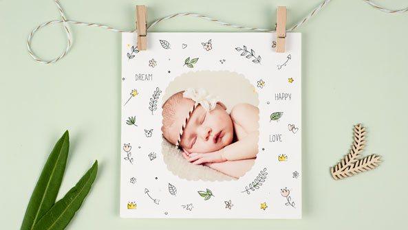 Geburtskarten Foto