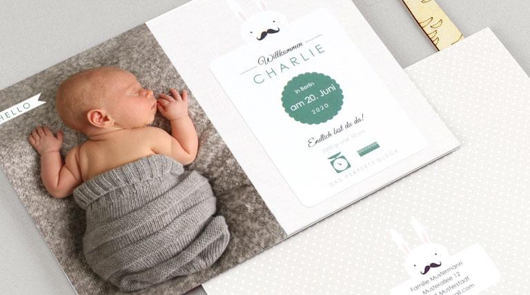 Geburtskarten kreativ