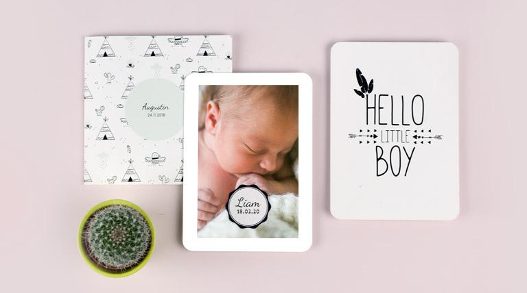 Kreative Karten zur Geburt