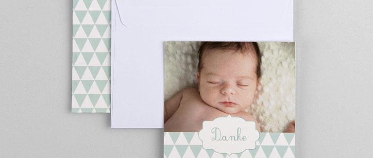 Geburt Dankeskarten