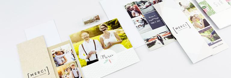 Dankeskarten Hochzeit ohne Foto