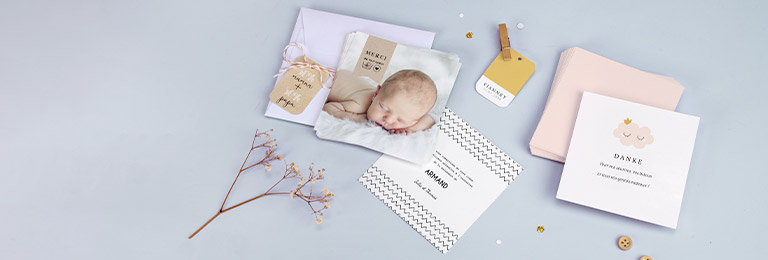 Dankeskarten Geburt für Mädchen